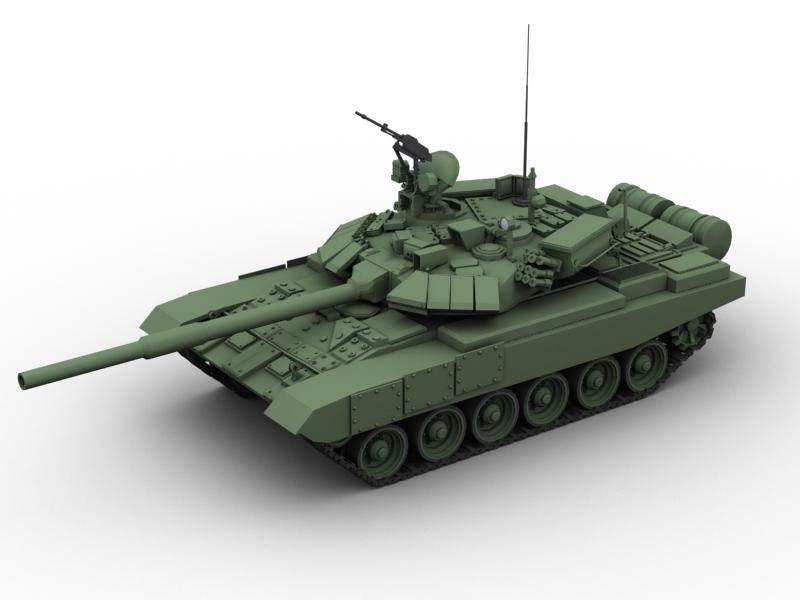 t 90 battle tank 3d model 3ds max fbx obj 147005