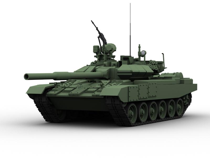 t 90 battle tank 3d model 3ds max fbx obj 147006