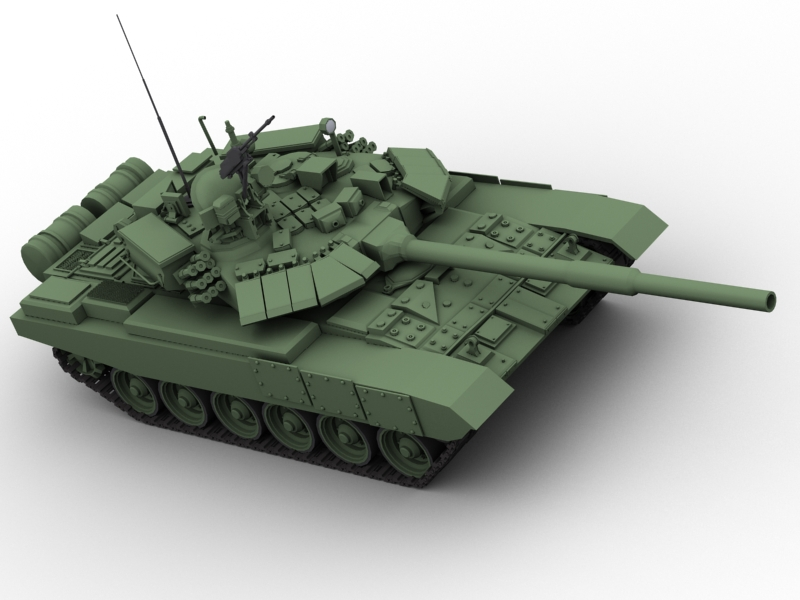 t 90 battle tank 3d model 3ds max fbx obj 147007