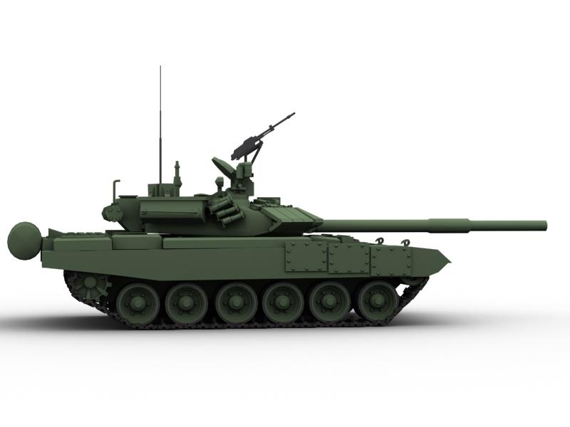 t 90 battle tank 3d model 3ds max fbx obj 147008