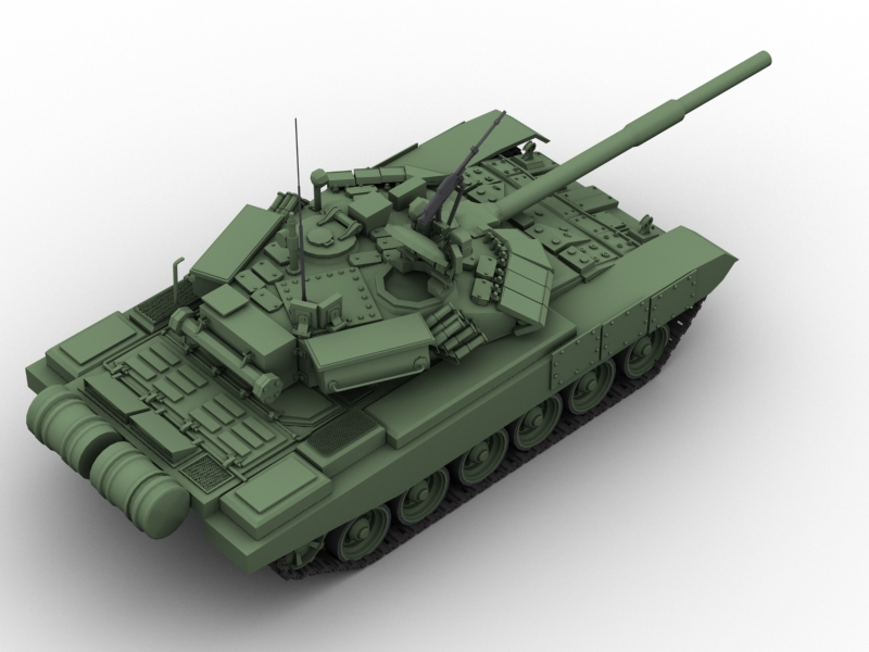 t 90 battle tank 3d model 3ds max fbx obj 147009