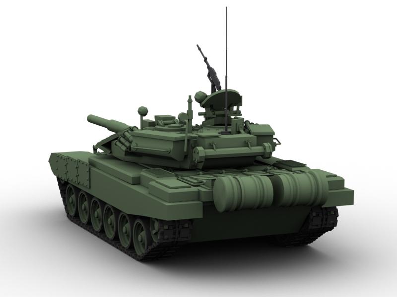 t 90 battle tank 3d model 3ds max fbx obj 147010
