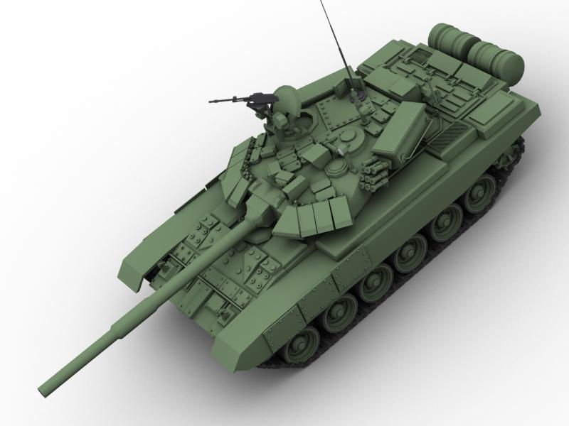 t 90 battle tank 3d model 3ds max fbx obj 147011