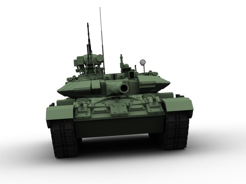 t 90 battle tank 3d model 3ds max fbx obj 147012