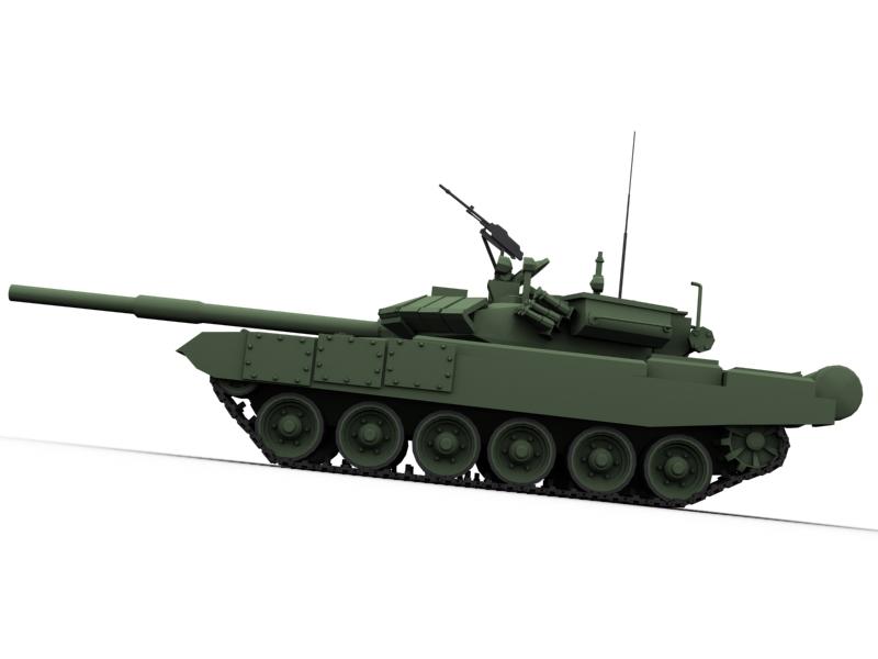 t 90 battle tank 3d model 3ds max fbx obj 147013