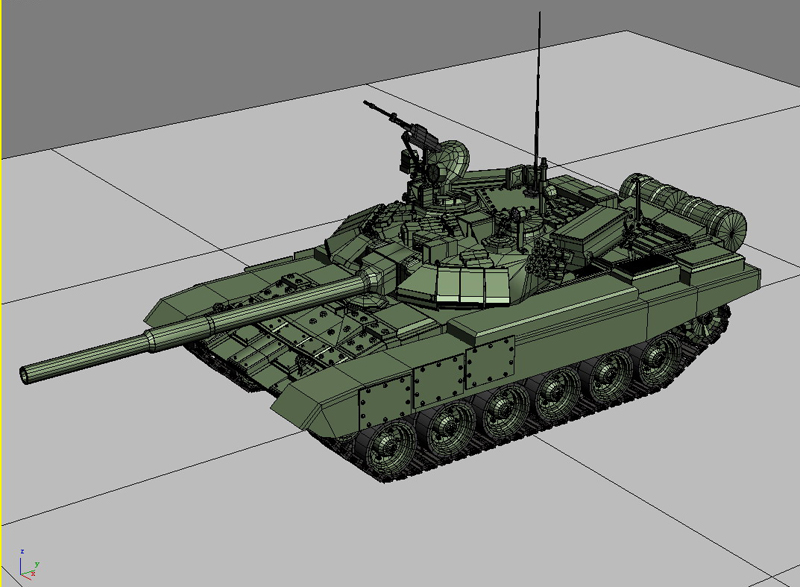 t 90 battle tank 3d model 3ds max fbx obj 147014