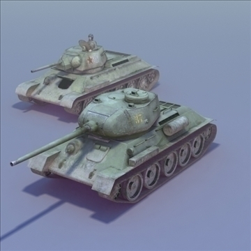 t34 85 duo 3dmodels 3d model 3ds max fbx lwo ma mb other hrc xsi texture obj 111943