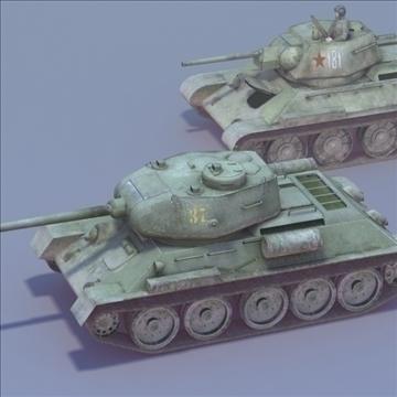 t34 85 duo 3dmodels 3d model 3ds max fbx lwo ma mb other hrc xsi texture obj 111947