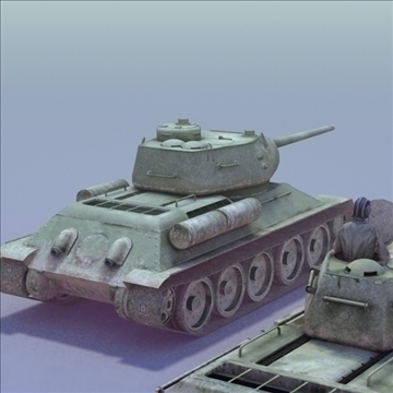 t34 85 duo 3dmodels 3d model 3ds max fbx lwo ma mb other hrc xsi texture obj 111949