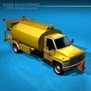 airport fuel truck 3d model 3ds dxf c4d obj 91753