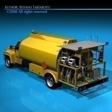 airport fuel truck 3d model 3ds dxf c4d obj 91754