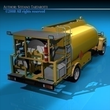 airport fuel truck 3d model 3ds dxf c4d obj 91755
