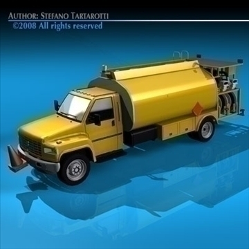 airport fuel truck 3d model 3ds dxf c4d obj 91756