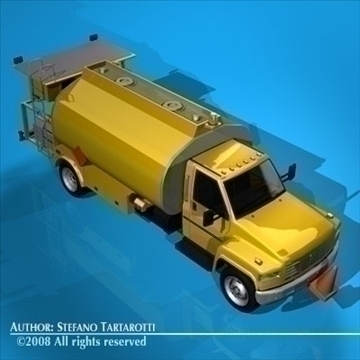 airport fuel truck 3d model 3ds dxf c4d obj 91757