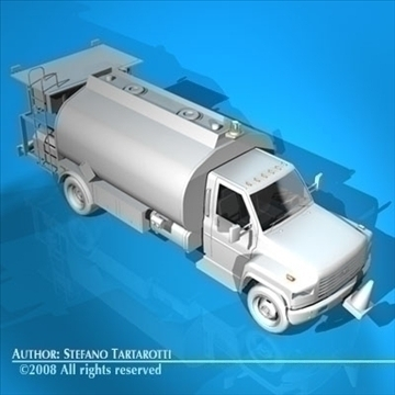 airport fuel truck 3d model 3ds dxf c4d obj 91758