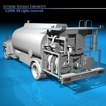 airport fuel truck 3d model 3ds dxf c4d obj 91759