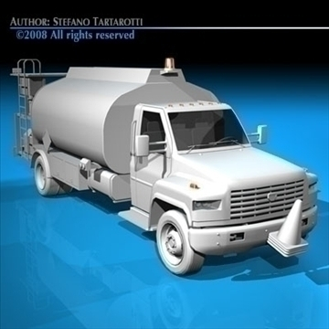airport fuel truck 3d model 3ds dxf c4d obj 91760