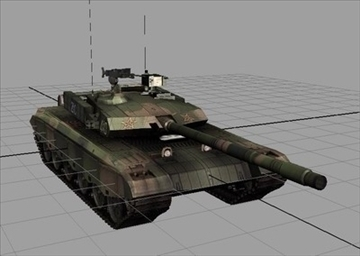 chinese type main battle tank 99 3d model ma mb obj 85107