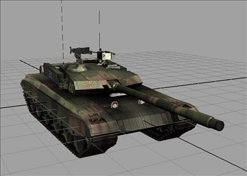 chinese type main battle tank 99 3d model ma mb obj 85108