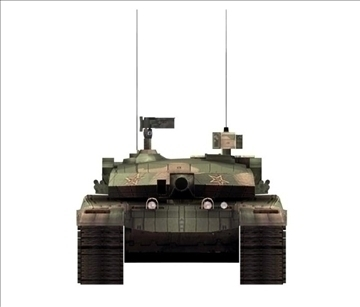 chinese type main battle tank 99 3d model ma mb obj 85109