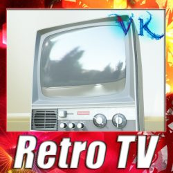 3D Model Retro TV High res ( 104.44KB jpg by VKModels )
