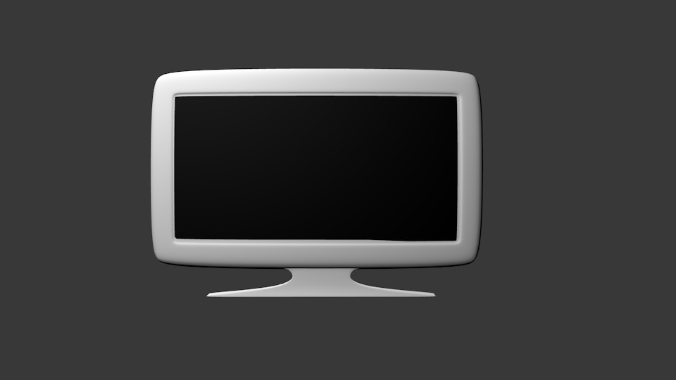 flat screen tv 3d model blend 113904
