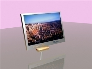 lcd monitor 3d model max 92681