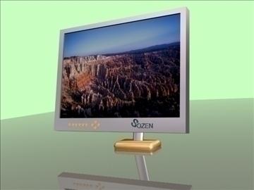 lcd monitor 3d model max 92682
