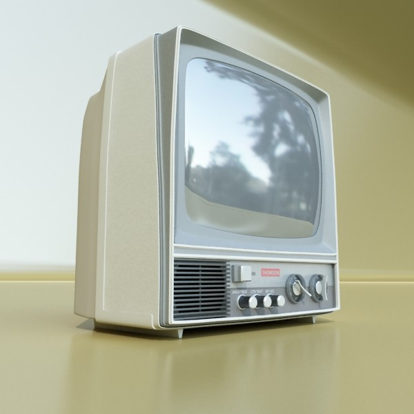 retro tv yüksək res 3d model 3ds max fbx obj 132333