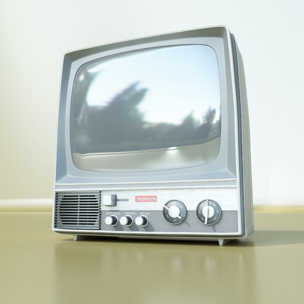 retro tv yüksək res 3d model 3ds max fbx obj 132334
