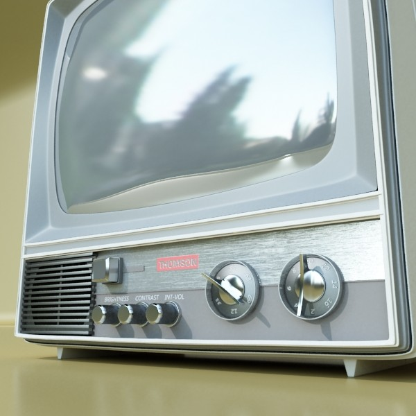 retro tv yüksək res 3d model 3ds max fbx obj 132338