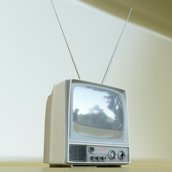retro tv yüksək res 3d model 3ds max fbx obj 132349