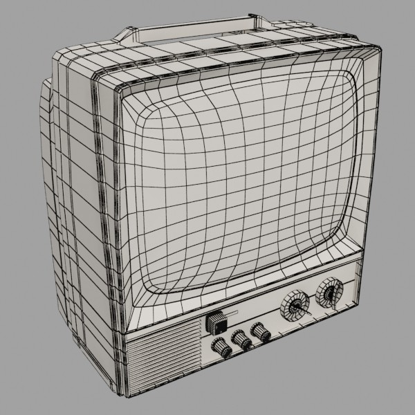 retro tv yüksək res 3d model 3ds max fbx obj 132352