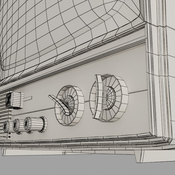 Retro tv hár res 3d líkan 3ds max fbx obj 132353