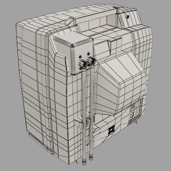 Retro tv hár res 3d líkan 3ds max fbx obj 132358