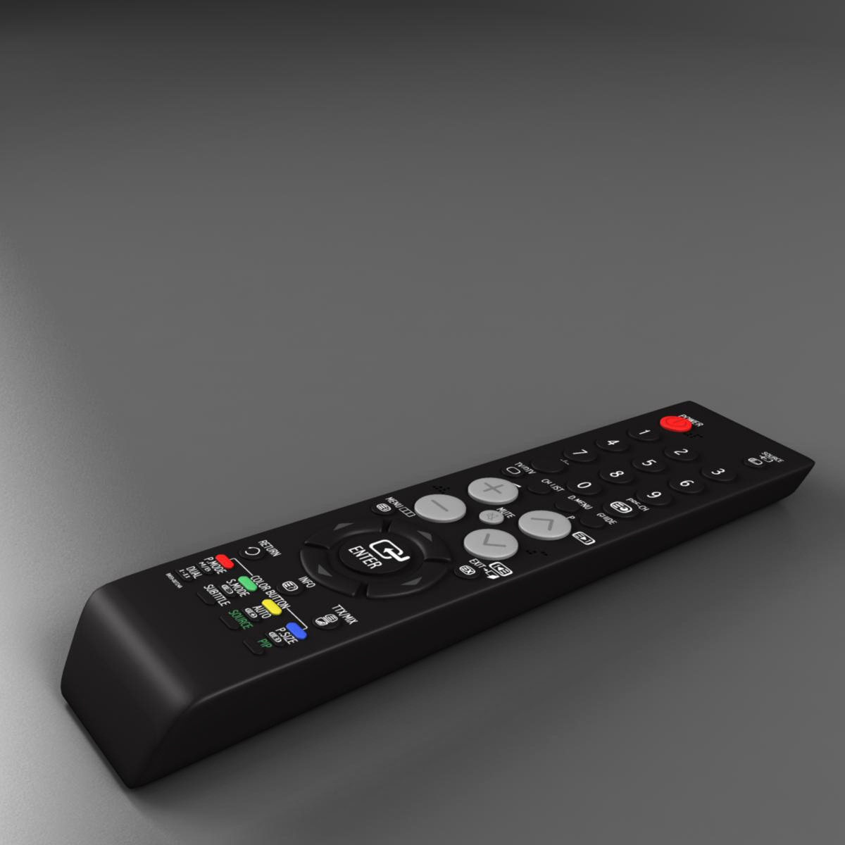 tft remote control 3d model 3ds max fbx ma mb obj 155949