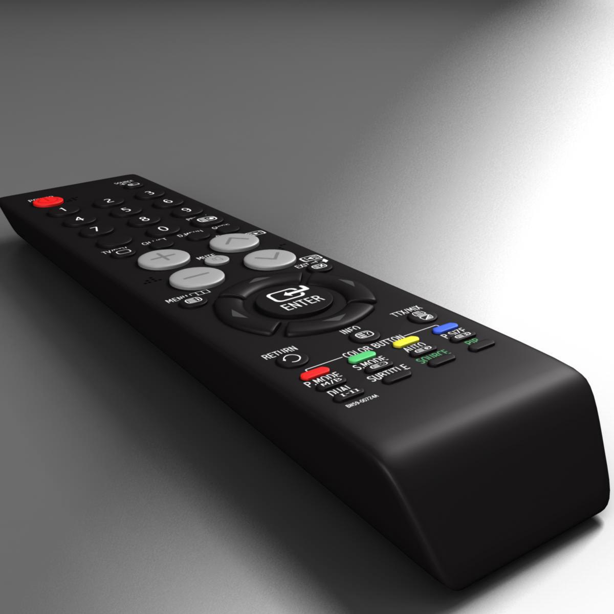 tft remote control 3d model 3ds max fbx ma mb obj 155951