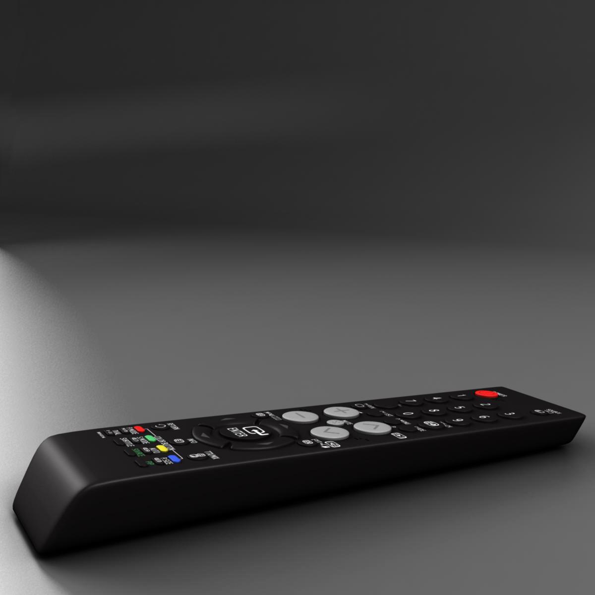 tft remote control 3d model 3ds max fbx ma mb obj 155953