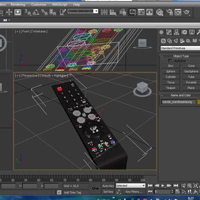 tft remote control 3d model 3ds max fbx ma mb obj 155955