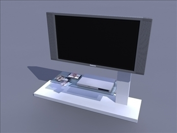 bangku tv 3d model ma mb obj 82902