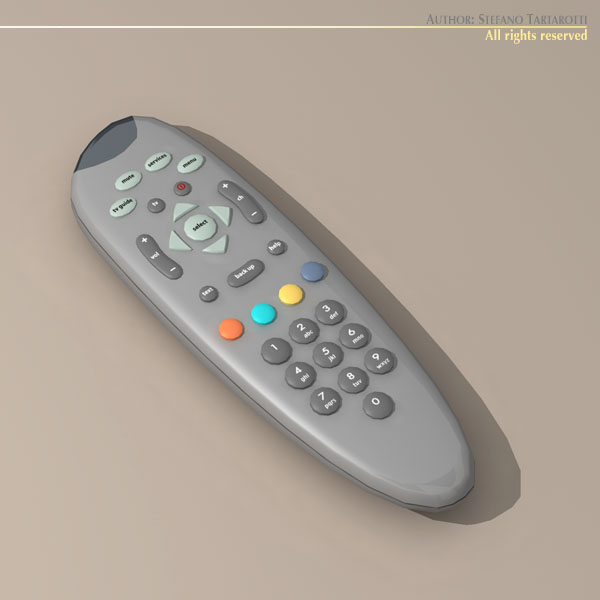 tv remote control 3d model 3ds dxf c4d obj 112635