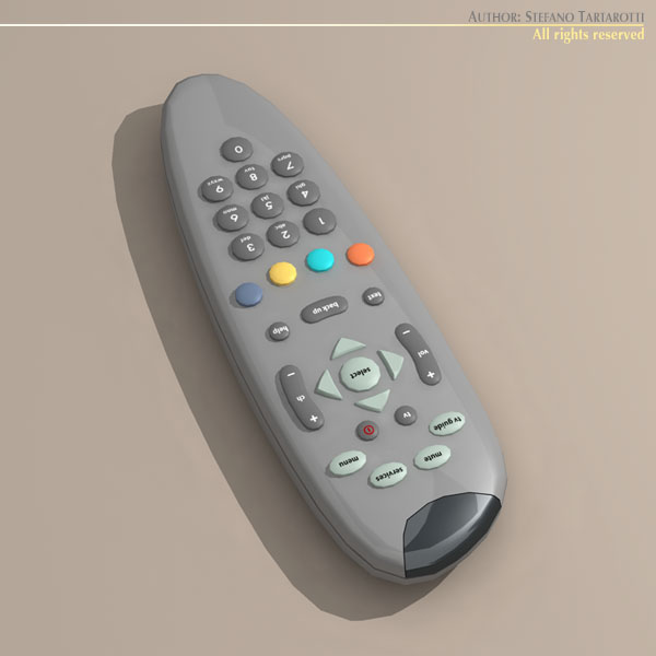 tv remote control 3d model 3ds dxf c4d obj 112636