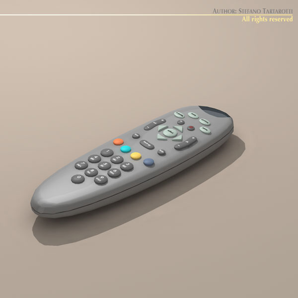 tv remote control 3d model 3ds dxf c4d obj 112637