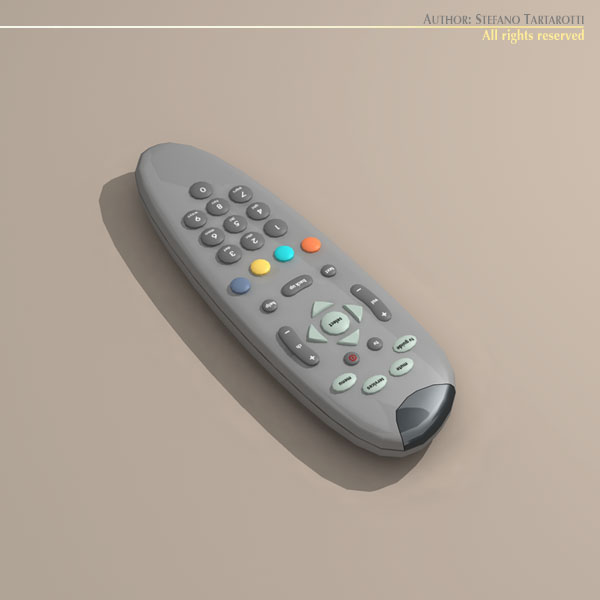tv remote control 3d model 3ds dxf c4d obj 112638