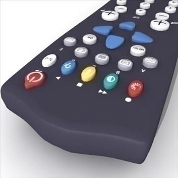 tv remote control philips 3d model max 99145