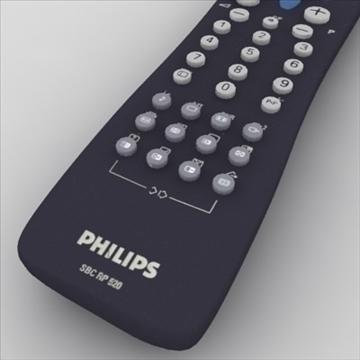 tv remote control philips 3d model max 99146