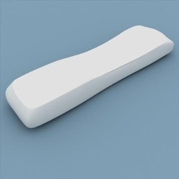 tv remote control philips 3d model max 99147