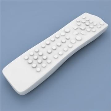 tv remote control philips 3d model max 99148