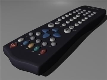 tv remote control philips 3d model max 99149