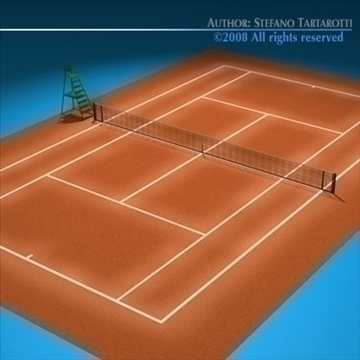 tennis field 3d model 3ds dxf c4d obj 88461